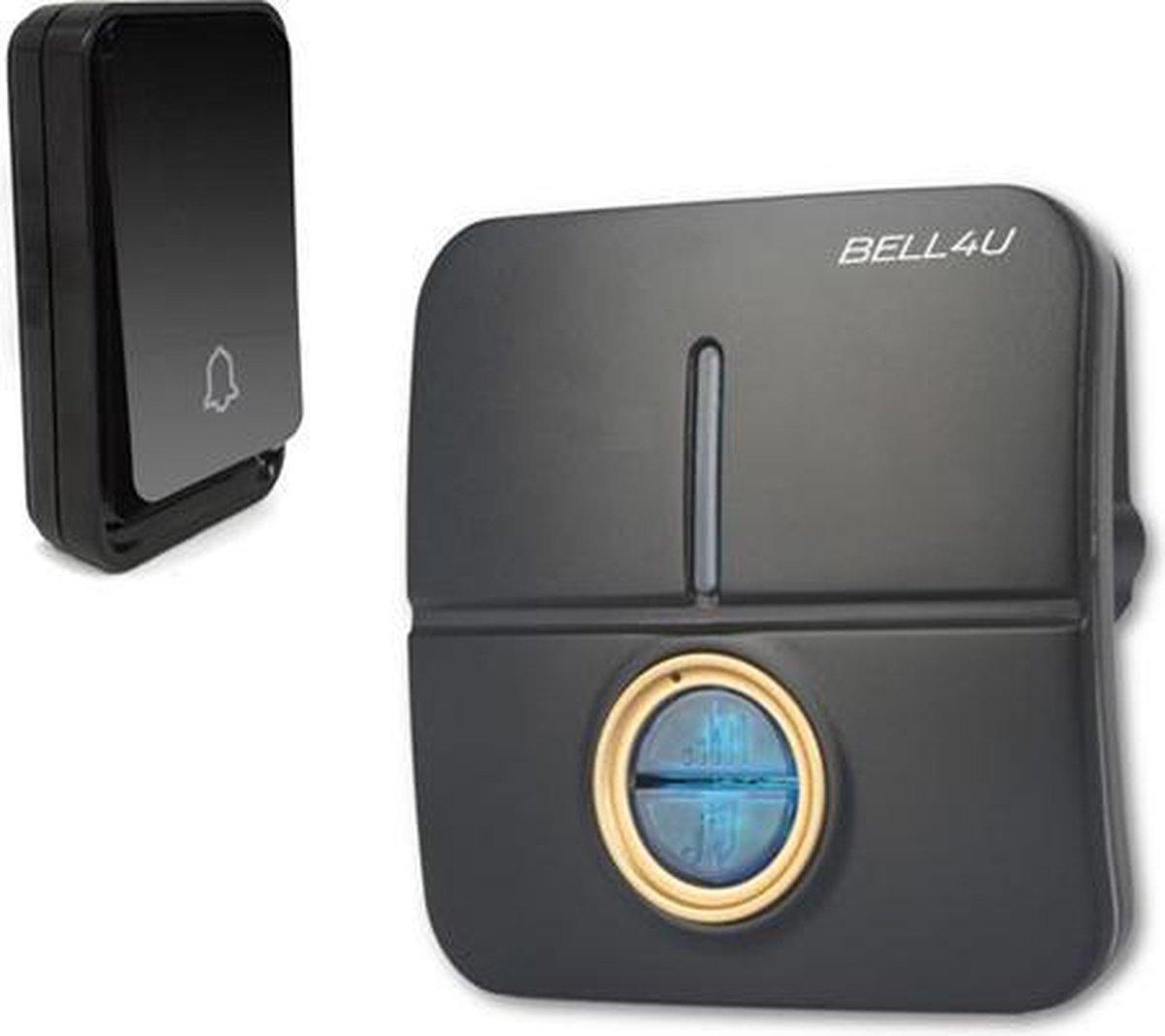 Bell4U® Draadloze deurbel - vele melodieën - mooi design - werkt geheel zonder batterijen - Bell4U