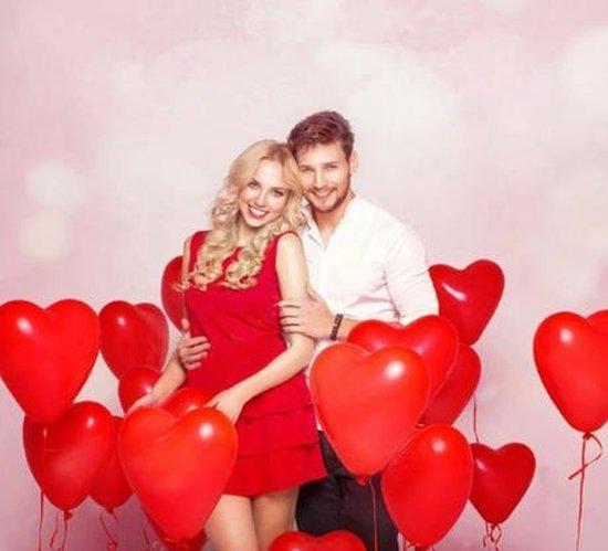 Hartjes ballonnen rood (10 stuks) | Verjaardag - Jubileum - Bruiloft - Verloving - Valentijn