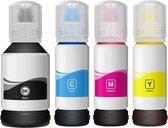 Geschikt inkt Epson Ecotank ET-2650 664 t664 navulinkt inktflesjes 4x100 ml Kleur+zwart Huismerk