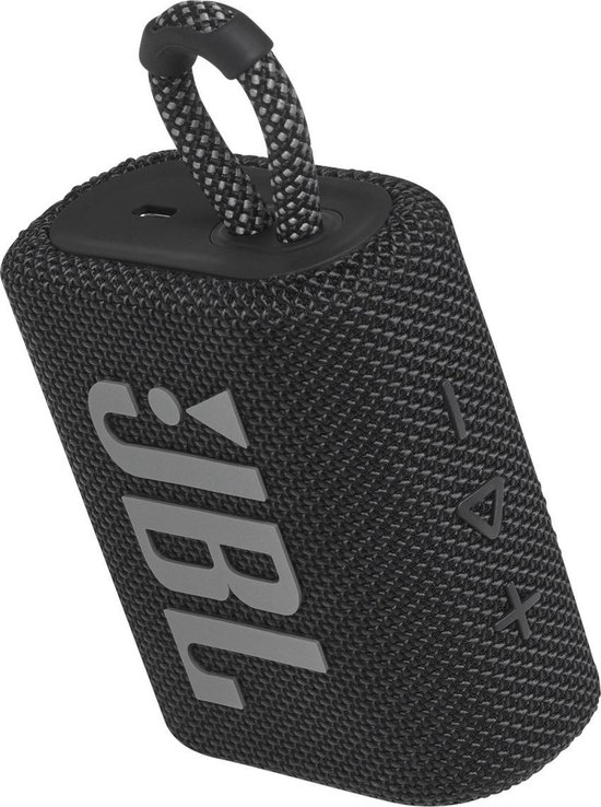 JBL Go 3 Zwart - Draadloze Bluetooth Mini Speaker
