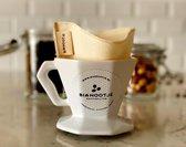 Herbruikbare en duurzame koffiefilter van biologisch katoen/ reusable coffee filter - organic cotton ( 2 stuks)