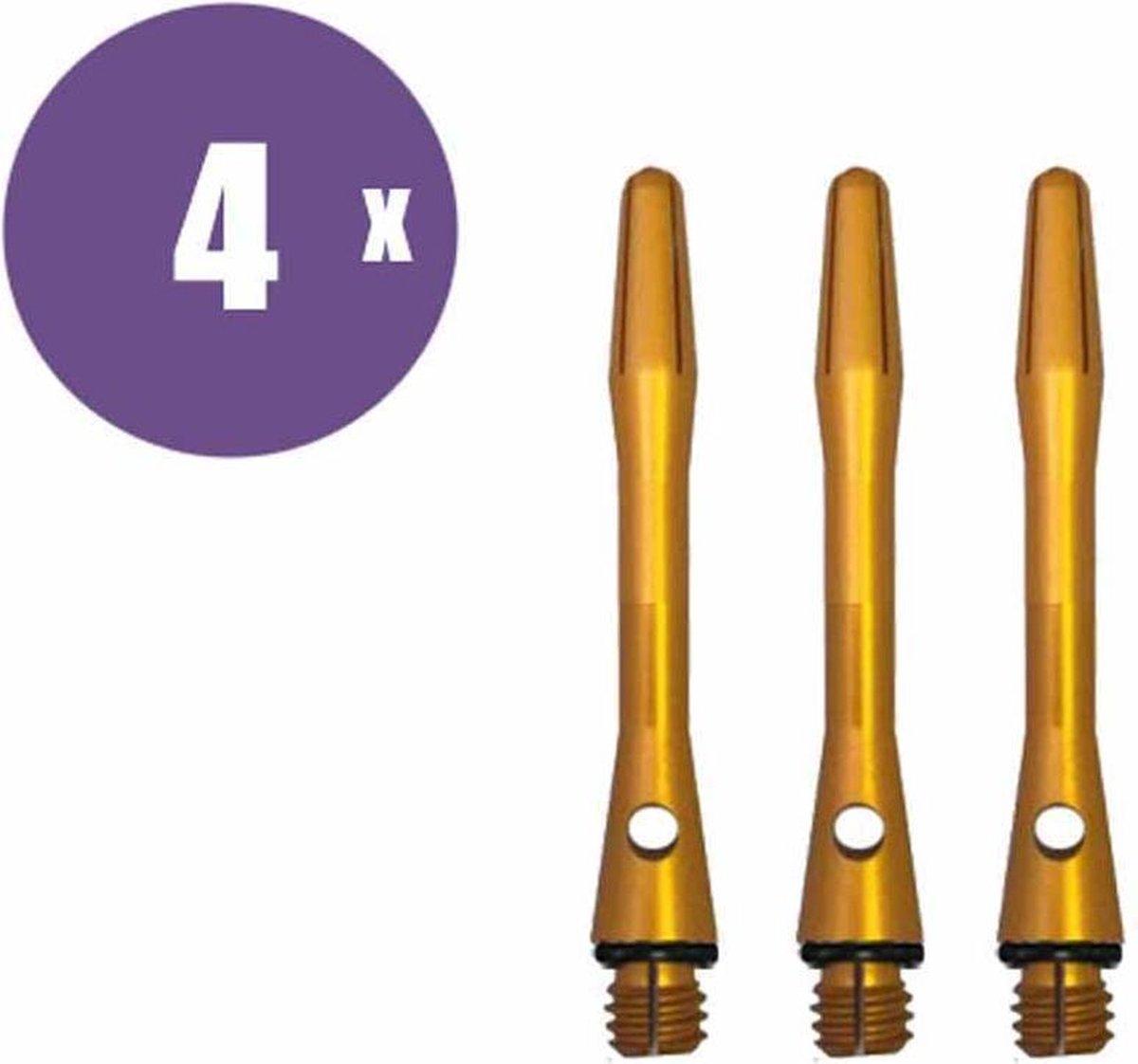 ABC Darts Shafts - Aluminium Geel - Short - 4 sets dartshafts