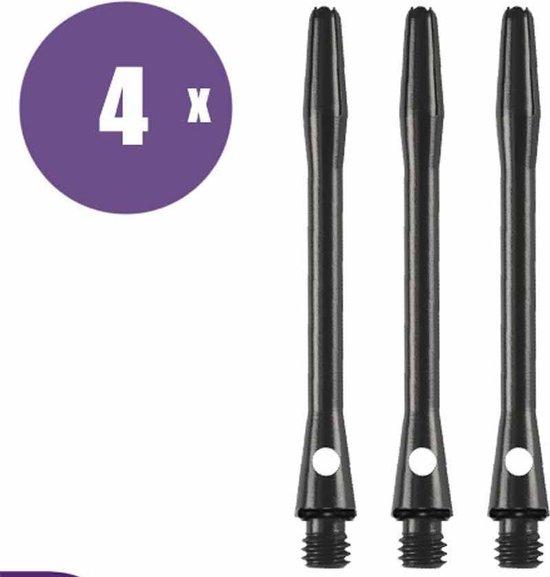 abcdarts darts shafts aluminium shaft zwart medium - 4 sets darts shafts