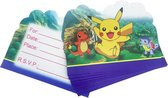 ProductGoods - 10 Stuks Verjaardag Uitnodigingskaartjes Pokemon - Uitnodigingskaarten Pokemon - Verjaardagsfeest - Themafeest - Kinderfeestje - Invulbaar - Pokémon - Kinderen