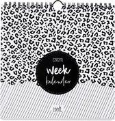 Zoedt kalender 2021- weekkalender - 21x21cm - ringband - zwart wit