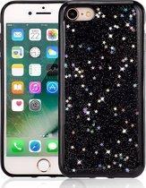 Apple iPhone 7 - 8 Plus Glitter Case - Zwart - Soft TPU - Bling Bling