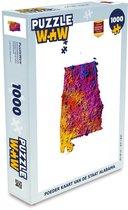 Puzzel 1000 stukjes volwassenen Staat Kaart in Poeder 1000 stukjes - Poeder kaart van de staat Alabama  - PuzzleWow heeft +100000 puzzels
