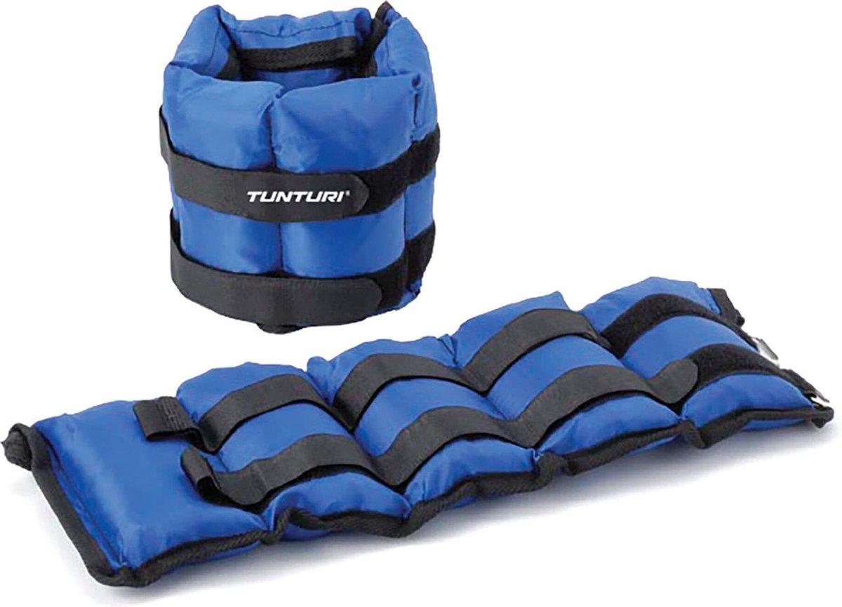 Tunturi Variabel Enkelgewichten en Polsgewichten - 2x 2,25 kg - Blauw