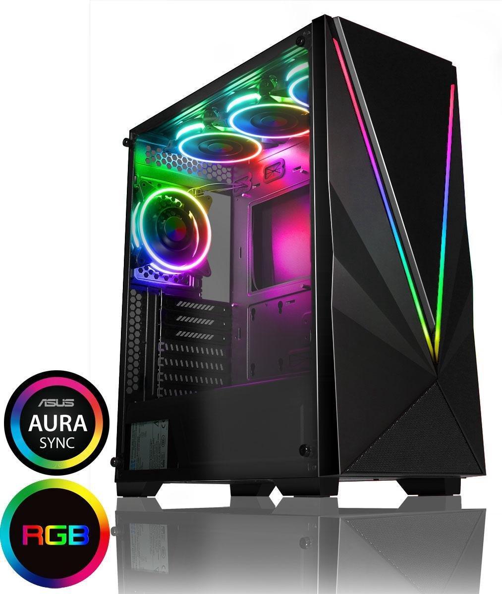 High-End Game PC Victory aRGB – RTX 3070 !!, Ryzen 3600XT 4,5 Ghz, 16GB DDR4, 500GB NVME SSD + 1TB HDD met RGB verlichting en WIFI. Alle nieuwe games op hoge settings!