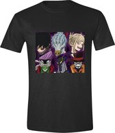 My Hero Academia Group Faces Mannen Zwart T-Shirt -S