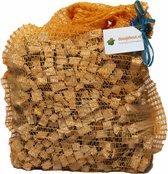 Aanmaakhout in een netzak | 1 kilogram | aanmaakhoutjes voor aanmaak van open haard hout in kachel | aanmaakblokjes aansteken