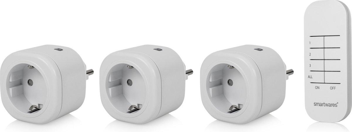 Smartwares SH4-99566 Mini Schakelaarset - Plug & Connect - 3 stuks met afstandsbediening