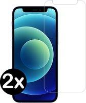 iPhone 12 Screenprotector Glas Tempered Glass Gehard - 2 PACK