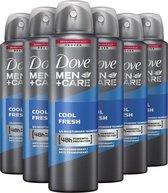 Dove Men+Care Cool Fresh Deodorant Spray - 6 x 150ml - Voordeelverpakking