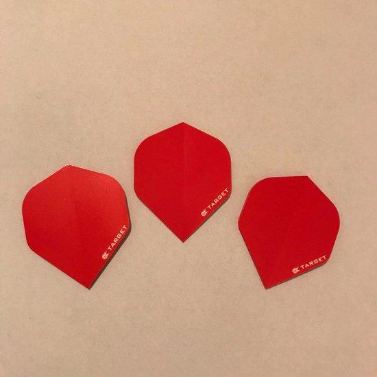 Afbeelding van het spel Target Pro 100 dart flights Rood 3 stuks