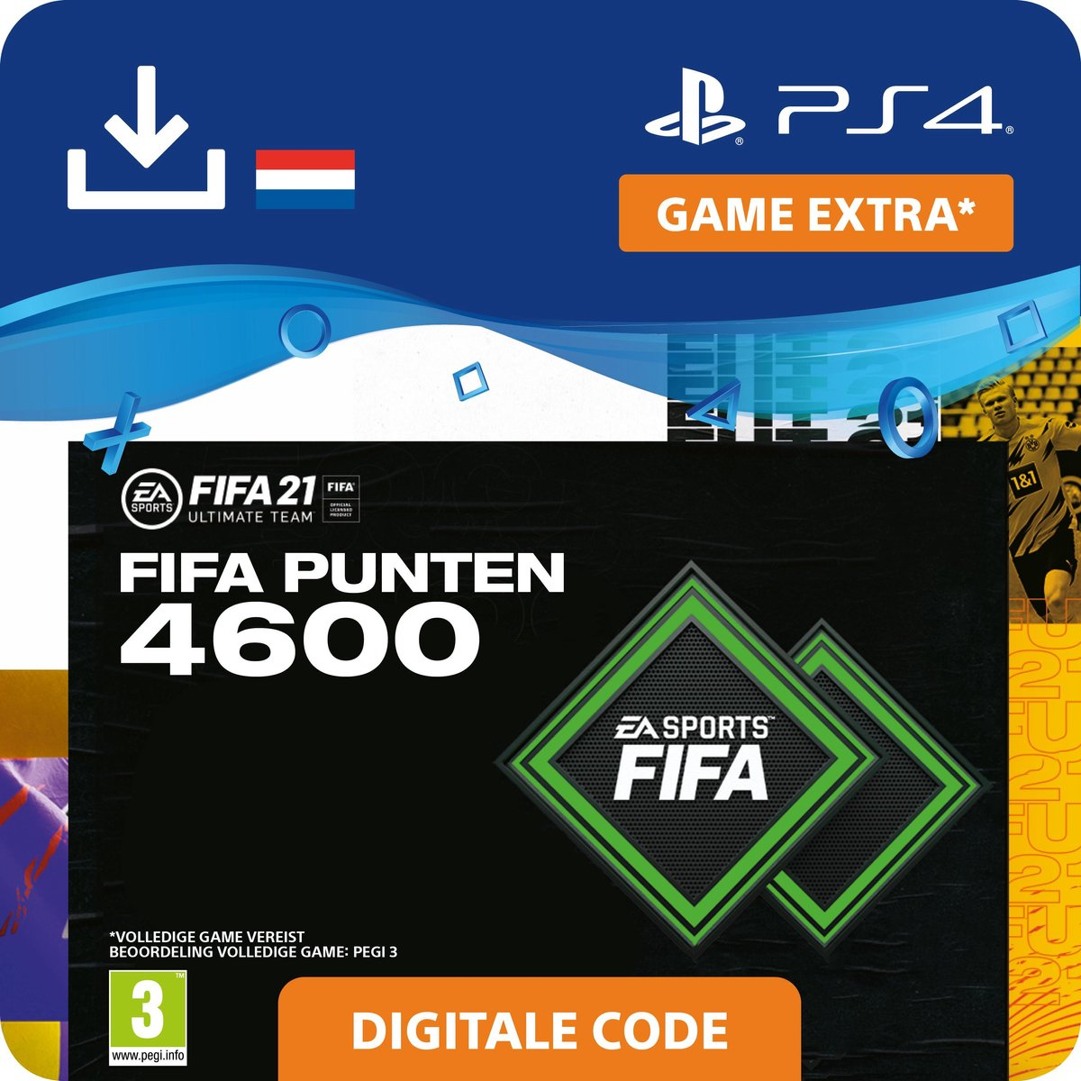 4.600 FUT Punten - FIFA 21 Ultimate Team - In-Game tegoed   PS4/PS5 Download - NL