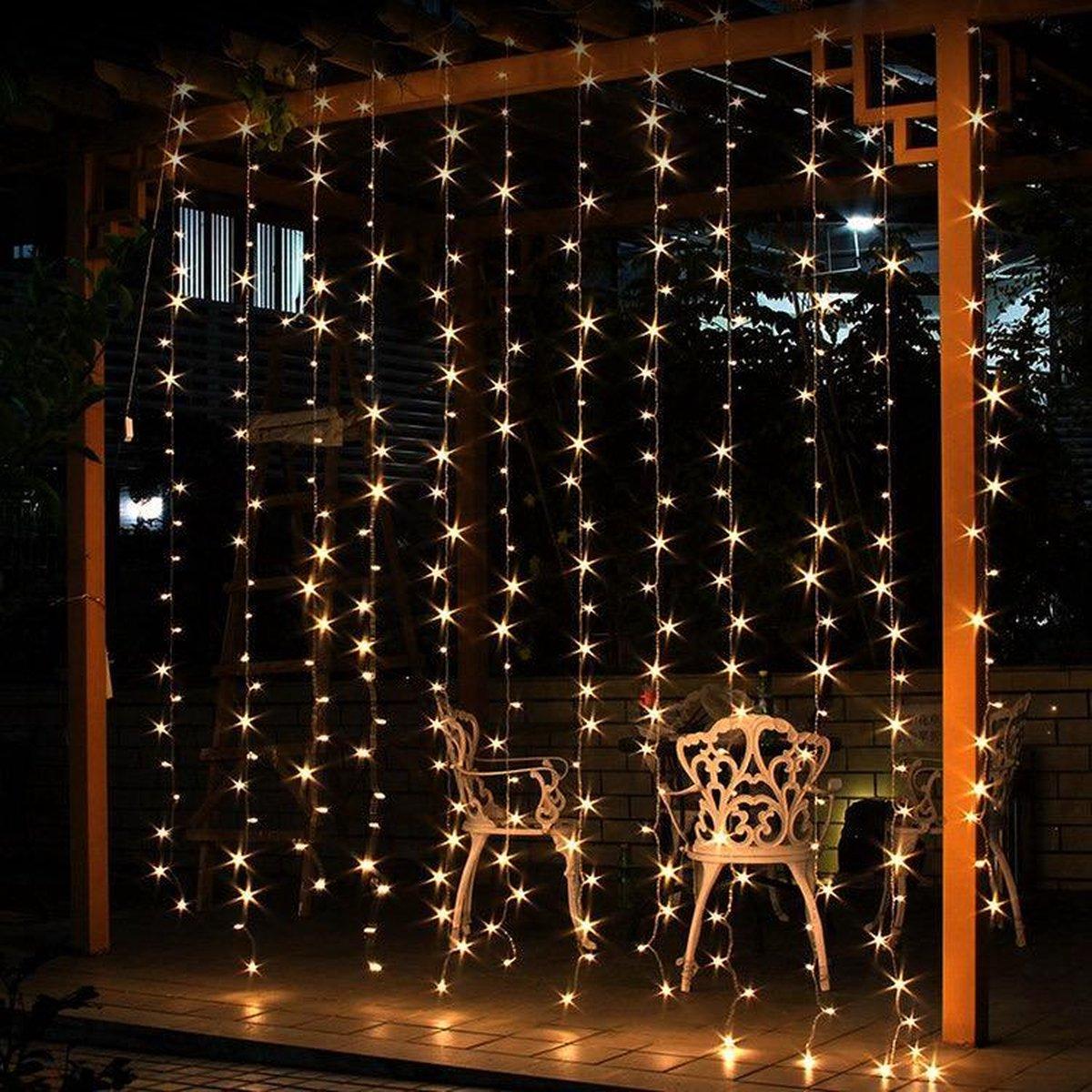 J-Pro Tuinverlichting - Kerstverlichting - LED Lichtgordijn - Curtain Lights 6x3m - Met Stekker