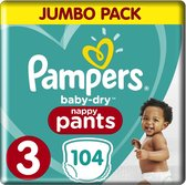 Pampers Baby Dry Pants - Maat 3 -Maandbox - 104 luierbroekjes