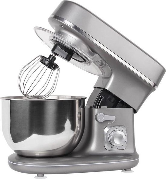 Molino Foodprocessor - Keukenmachine - 1300 watt - 6 Snelheden - 5 liter - Grijs