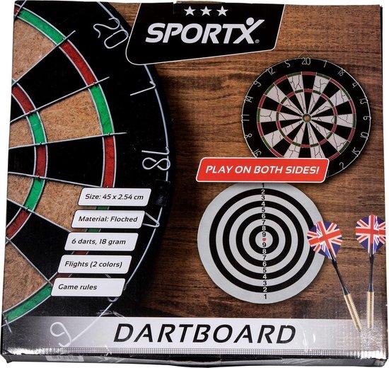 Thumbnail van een extra afbeelding van het spel SportX Dartbord 45 cm met 6 Darts