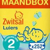 Zwitsal Luiers - Mini Maat 2 - 252 stuks - Voordeelverpakking
