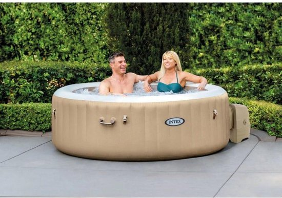 Intex Pure Spa Plus+ Bubble Massage (4 persoons) - Opblaasbare Jacuzzi