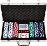 Pokerset - 300 chips - Poker Set - In Aluminium Koffer - 300 delig - Pokersets - Volwassenen - 11,5 Gram Chips - 2-4 Personen - Poker Kaarten - Poker Chips - Cave & Garden