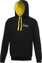 FitProWear Multicolour Hoodie Unisex - Zwart / Goud - Maat XXL - Dames - Heren - Trui - Sporttrui - Sweater - Hoodie - Katoen / Polyester - Trui Capuchon - Sportkleding