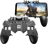 Smartphone Gaming Controller - Android en IOS Gamepad - Verstelbare Mobiele Telefoon Joystick - 4 Triggerknoppen - PUBG & COD Games - Memo AK66 Mobile Controller