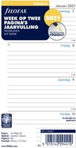 Agendavulling 2021 - Filofax Personal - Week op twee pagina's