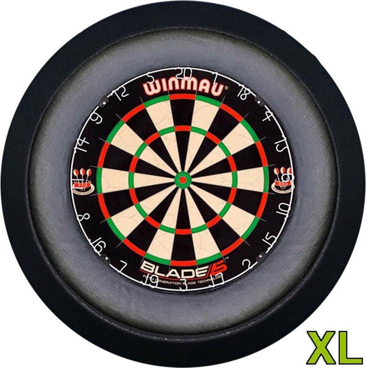 Lena Dartbord verlichting XL Zwart