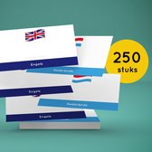Flashcards / Woordkaartjes Engels-Nederlands (250)