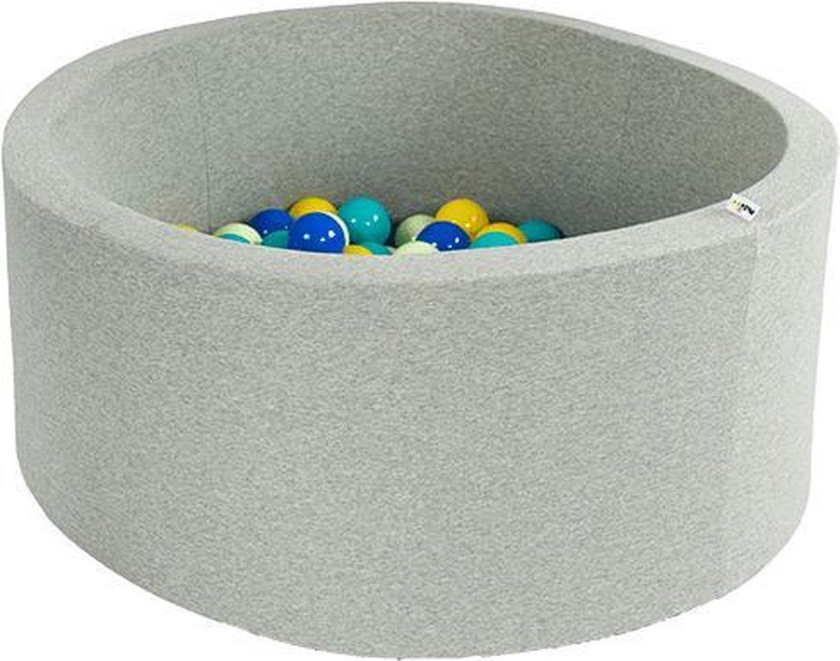 Ballenbak XL rond 100x40 lichtgrijs Misioo, excl. ballen