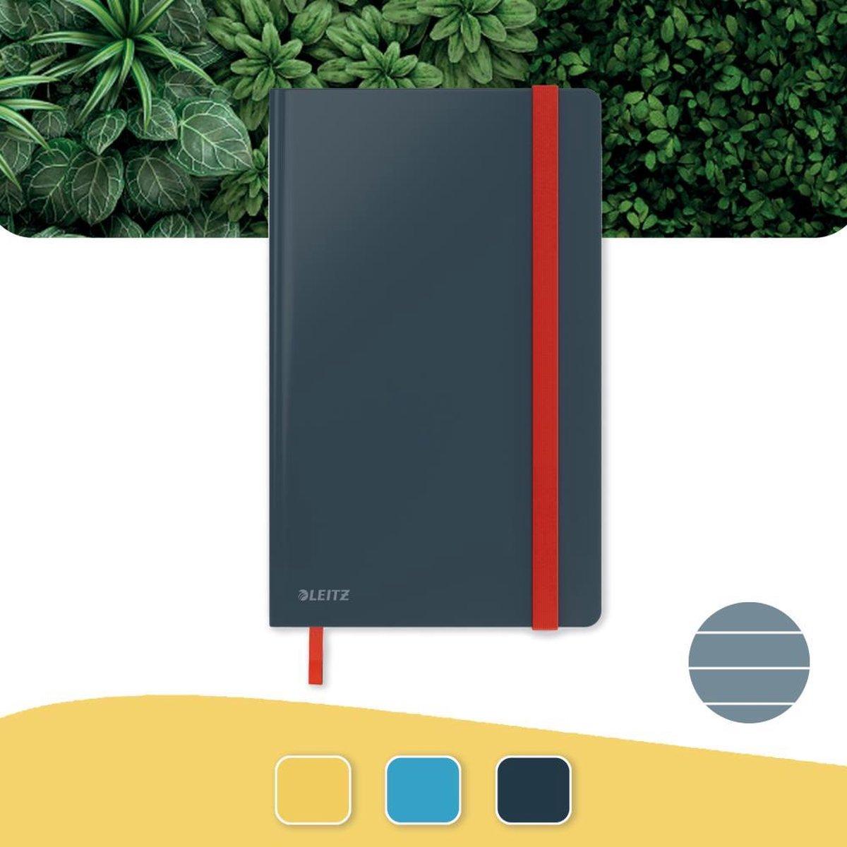 Leitz Cosy Notitieboek A5 Soft Touch Gelijnd - Notitieboek Hard Cover - Voor Kantoor En Thuiswerken - Fluweel Grijs - Ideaal Voor Thuiskantoor