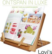 Lovi's ® Boekensteun - Verstelbare Boekenstandaard  - Bamboe Boekenhouder - Kookboekstandaard