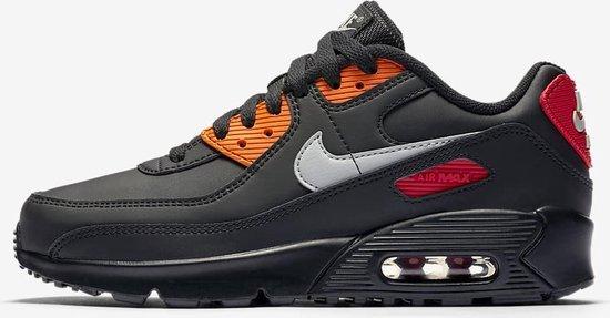 Nike Air Max 90 Heren Sneakers - Zwart/Rood/Grijs - Maat 39