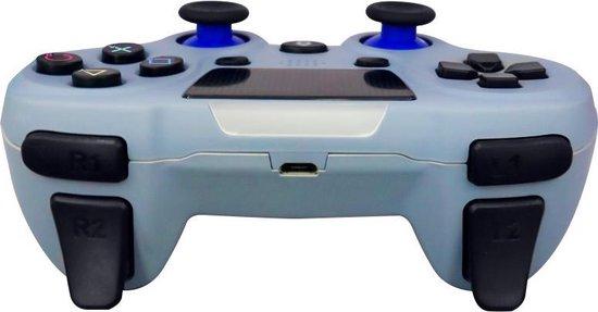 MOJO Draadloze Controller Wireless Gamepad Geschikt voor PS4 – Lichtblauw