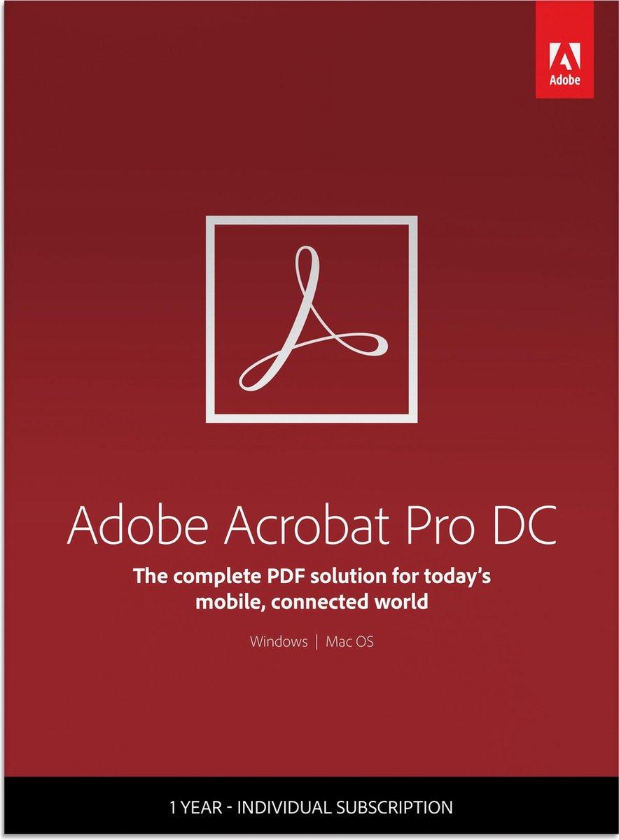 Adobe Acrobat Pro DC - 12 months/1 device - Multi L (PC/MAC)