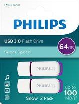 Philips USB flash drive Snow Edition 64GB, USB3.0, LED, 2-pack