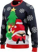 JAP Foute kersttrui - Santastring - Dames en heren - Maat M
