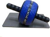 AJ-Sports Ab-wheel inclusief kniemat - Ab roller - Ab trianer - Buikspiertrainer - Buikspierwiel - Buikspierapparaat -  Trainingswiel - Fitness - Workout - Home workout