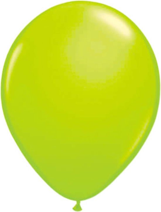 Neon groene latex ballon 25 cm 8 stuks