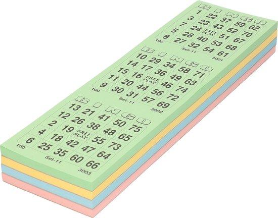 Thumbnail van een extra afbeelding van het spel 10x Bingokaarten blok 1-75 - 3 spellen per velletje - bingospel