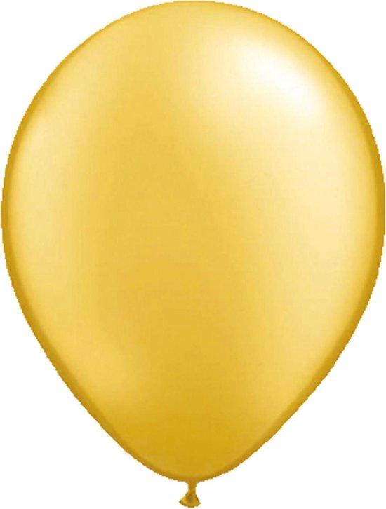 25x stuks Metallic gouden party ballonnen - Verjaardag feestartikelen/versiering