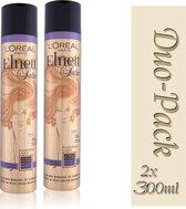 Duo Pack 2x L'Oréal Paris Elnett Satin Luminize Haarlak - 300 ml-3600522528012