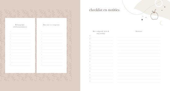 Mijn zwangerschapsdagboek - collectie Eclipse - Maan Amsterdam