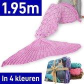 MikaMax - Zeemeermin Deken - Mermaid Blanket Roze - 1.95m