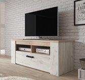 TV-Meubel Kay - Eiken - Wit - 120 cm