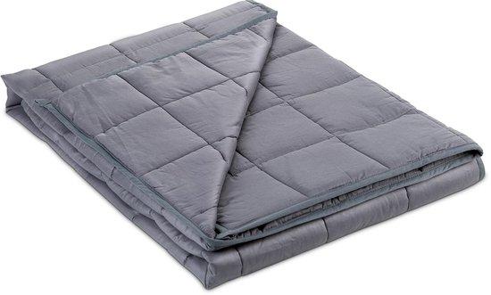 Kustaa Verzwaringsdeken 6,8kg – Weighted Blanket - Katoen - 152x203cm (Queen Size) - Grijs