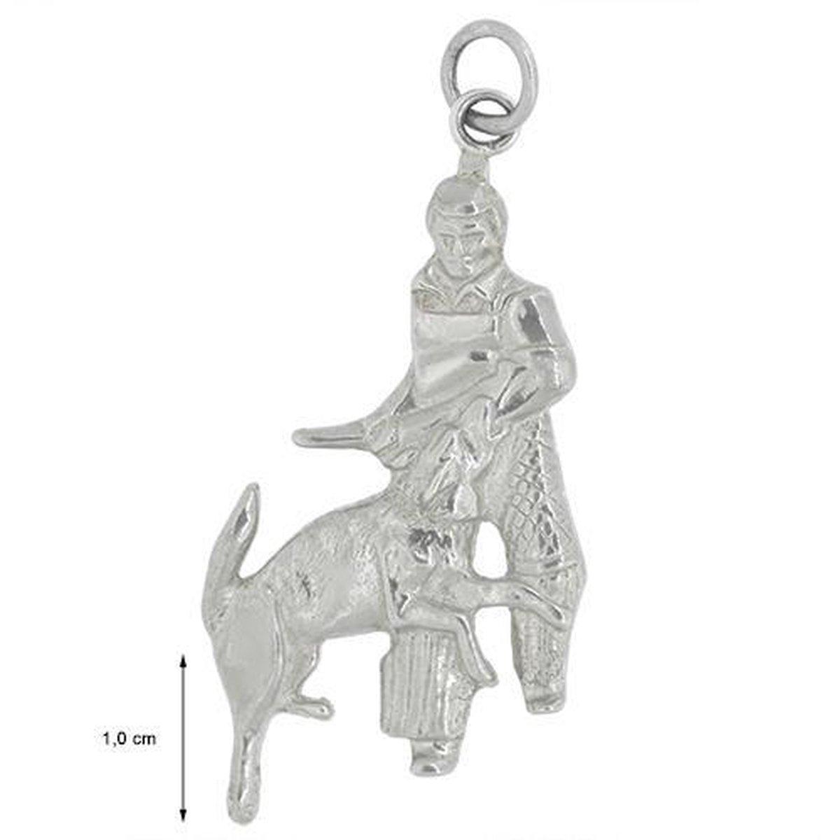 Blinx Jewels Zilveren Hanger Jager en Hond
